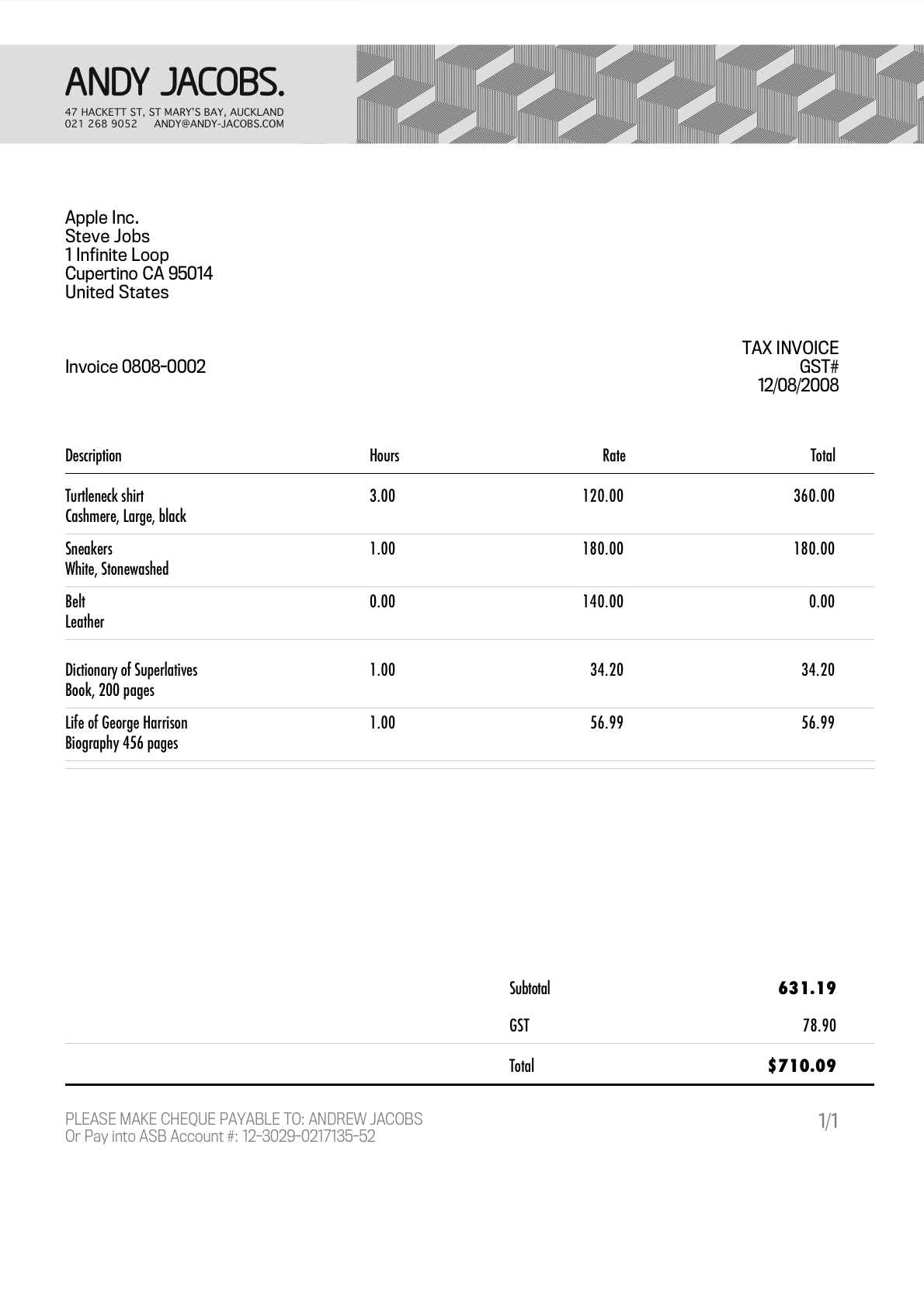 GrandTotal - Invoices and Estimates on your Mac
