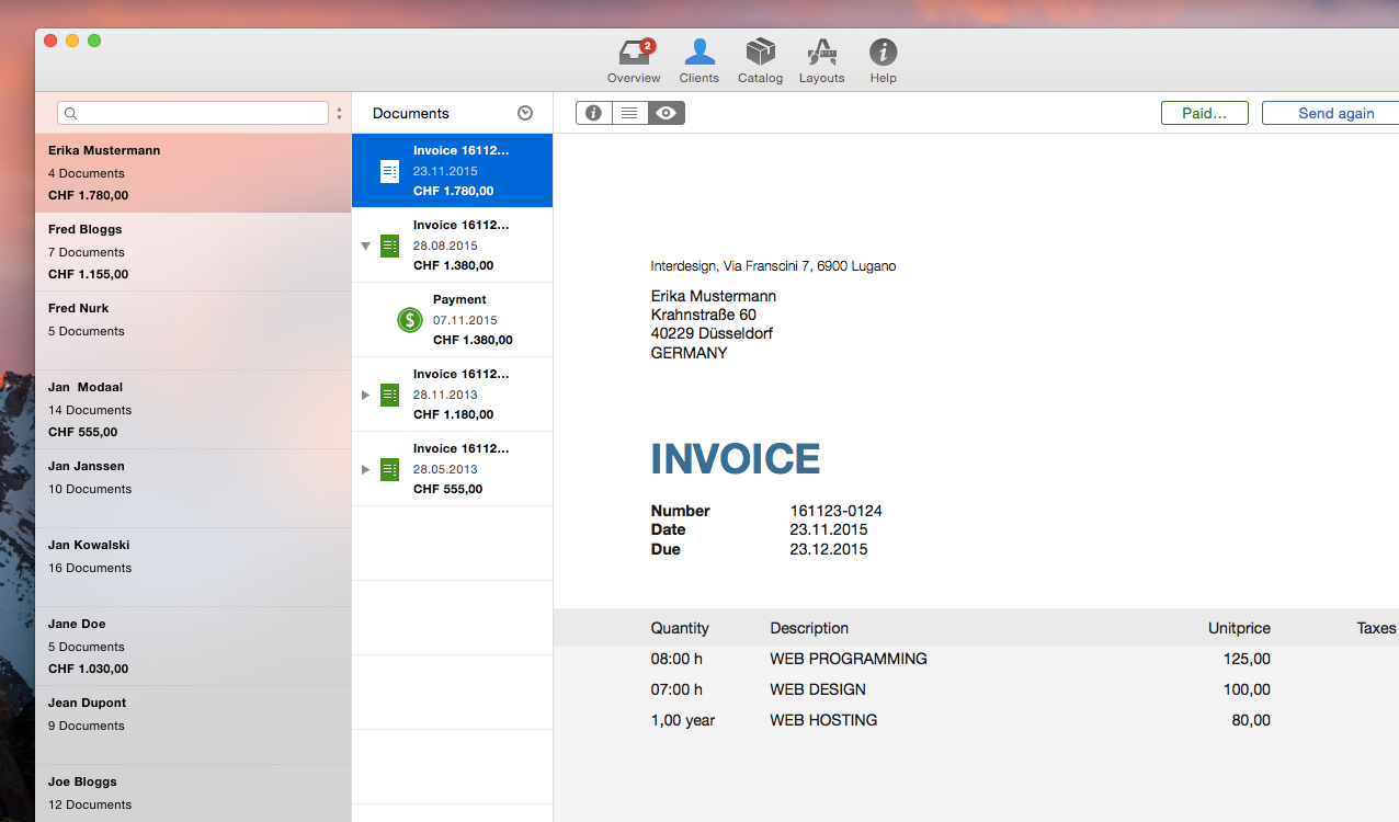 GrandTotal Invoices And Estimates On Your Mac - My invoices and estimates for mac